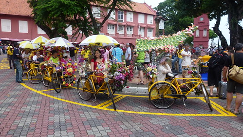 Well decorated rickshaws, Melaka