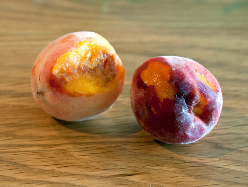 some bruised peaches for jam