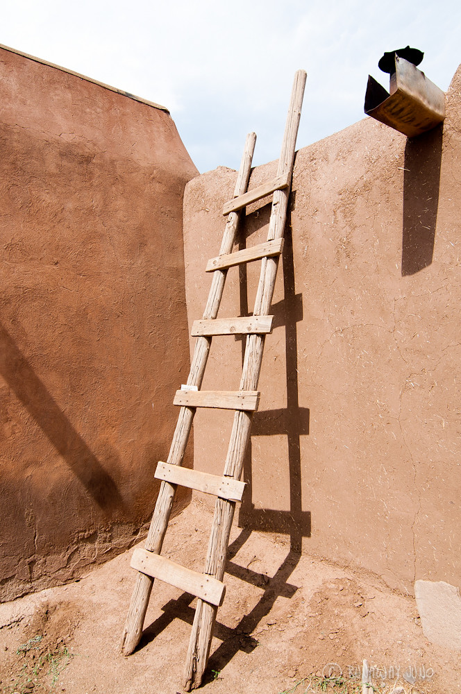 Ladder - they used it to get into the house from the top.