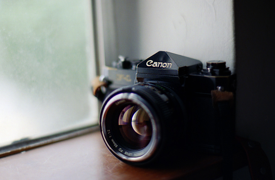 Canon old F-1 + FD 55/1.2