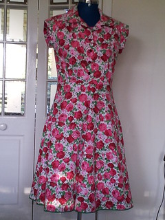 Simplicity 1880 Shirt dress finished