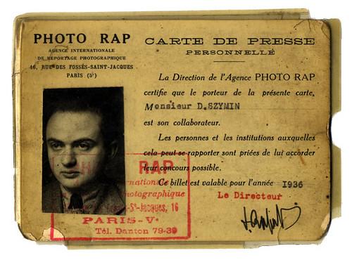 Photo Rap, carnet profesional de David Szymin. by Octavi Centelles