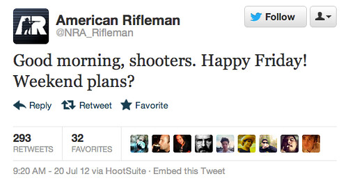 Tacky Tweet posted after the Batman Colorado Shooting