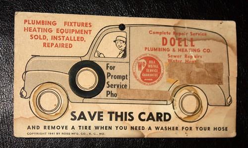 Plumbing & Heating Interactive Trade Sign - 1941