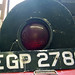 Old Railroad Signal Lamp and 1965 British License Plate