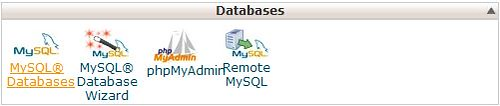 Mysql Database in the Arvixe cPanel