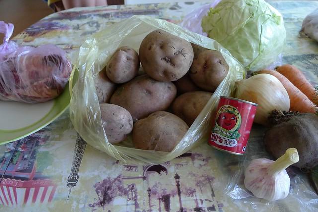 borscht ingredients
