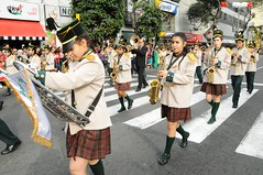 bagpipes(0.0), festival(1.0), musician(1.0), clothing(1.0), parade(1.0), musical instrument(1.0), marching(1.0), costume(1.0),