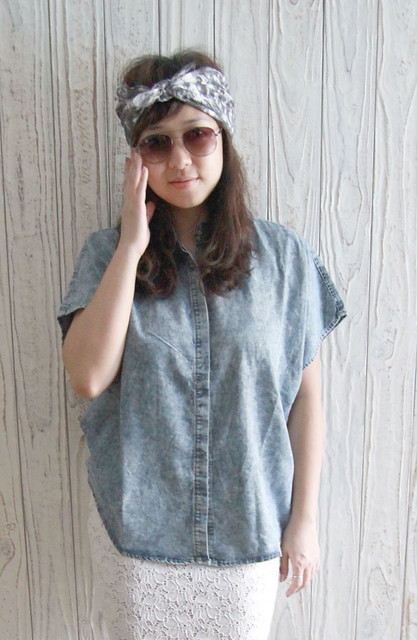Acid Denim Shirt - Hers