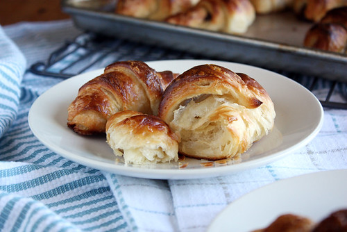 buttery croissants.