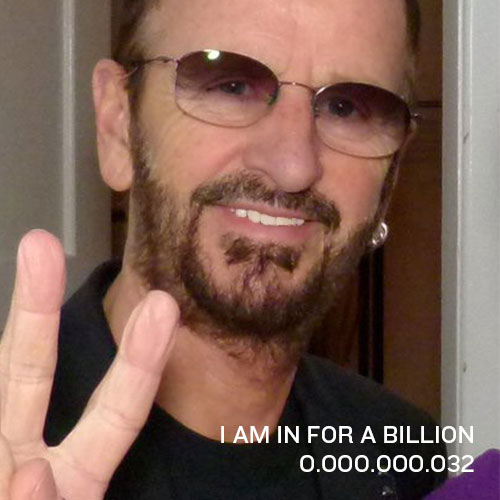 0.000.000.032: Hi, I am Ringo Starr from UK. I am a Non-Violence and Peace Ambassador. Join the movement and GIVE PEACE A FACE by signing up your face just like me…and write a message to the world right here. Thank you and have fun!Ringo
