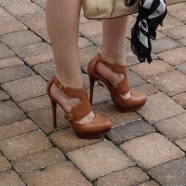 michael kors toni platform heels