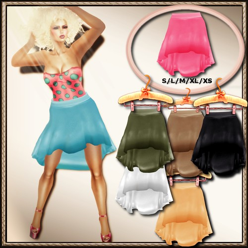 A&A Fashion Tulip Mesh Skirt