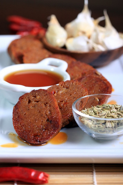 Vegan Sausages with Sriracha and Five-Spice Powder