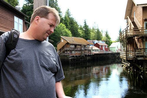 Ketchikan - Mike Stares at Creek Street Creek