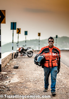 Aneesh Airborne Awasthi with his KTM DUKE 200 in Action at Himalayan Expressway near Chandigarh