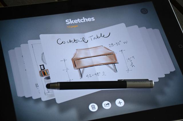 paper app + wacom bamboo stylus