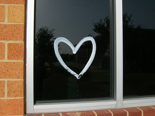 heart on the window