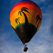 Hot Air Balloon with Palm Trees by Dr Blind