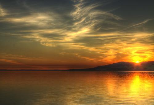 light sunset sea water clouds landscape golden coast scotland coastal shore fleet picturesque carrick dumfries galloway gatehouse knockbrex sandgreen