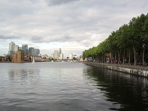 Greenland Dock and Canary Wharf
