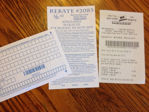 Menards Rebate Tutorial - Shopping the Free after Rebate Deals ...