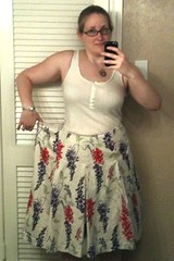 Oversized Skirt Refashion - Before