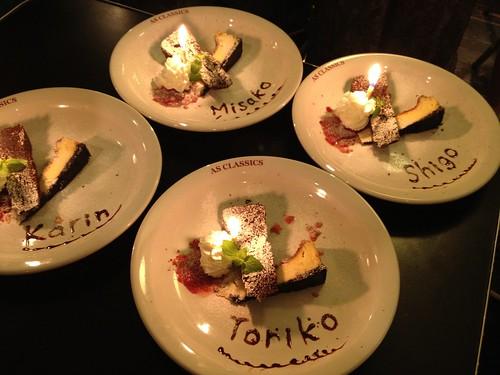 8月生まれの方のに一皿ごとケーキをいただきました!@AS CLASSICS DINER