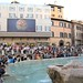 The crowd at the Trevi Fountain