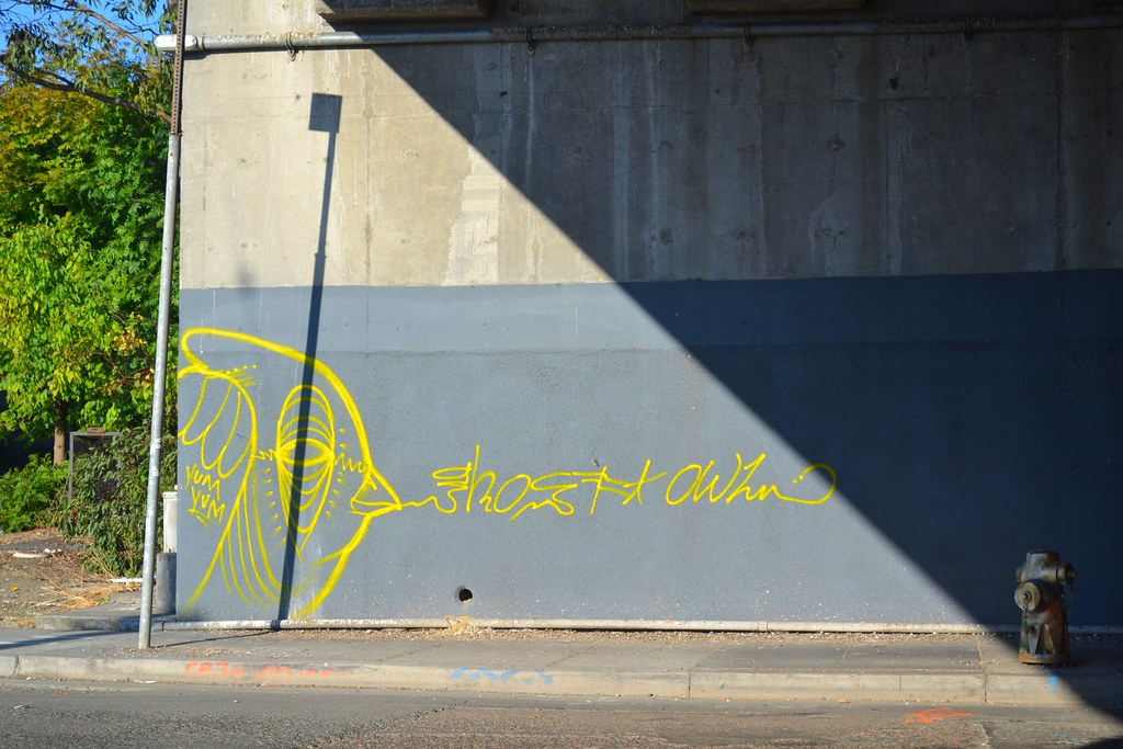 Ghost Owl, Graffiti, Yumm Yumm, Street Art, Oakland,
