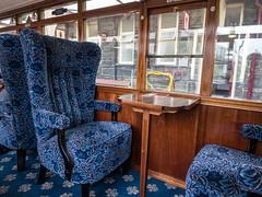 Ffestiniog observation car- interior