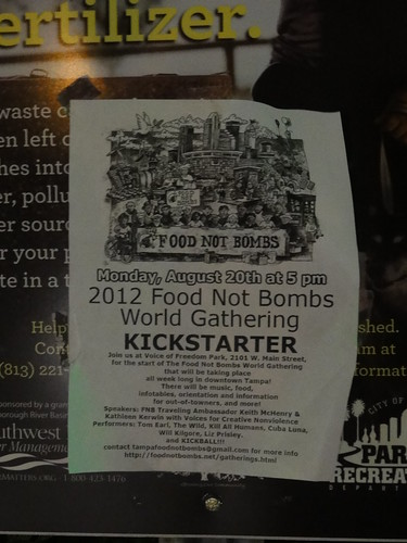 """Food Not Bombs"" flyer"