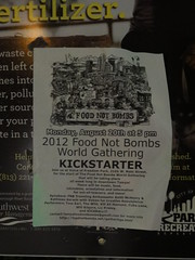 'Food Not Bombs' flyer