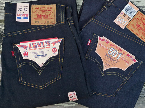Levi's for J.Crew / 501 Selvedge Jeans & Levi's / 501XX Made in The USA