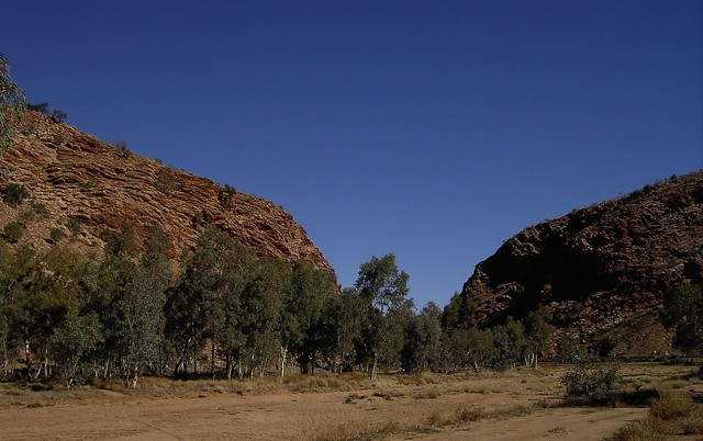 The dry Todd River, Haveatree Gap