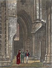 Parti av korgangen i Trondhjems Domkirke (ca. 1860)
