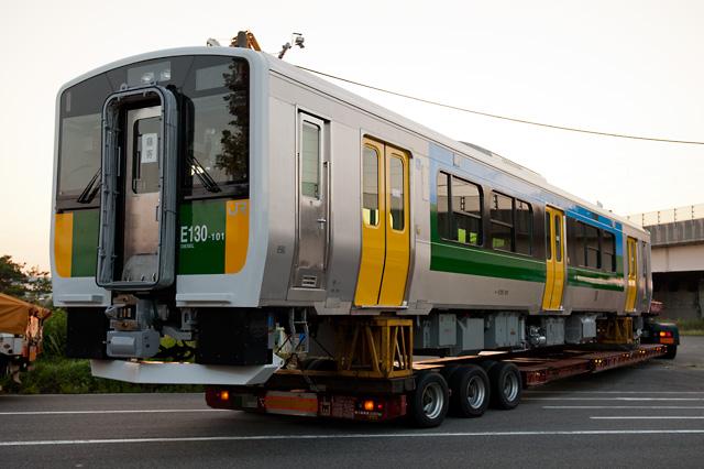 JR東日本 久留里線向け新車 キハE130系100番代 新潟トランシス陸送