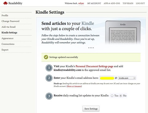 Kindle Settings for Readability