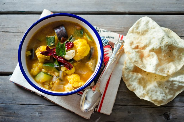 Sambhar/ Sambar - Spicy South Indian  Vegetable Stew