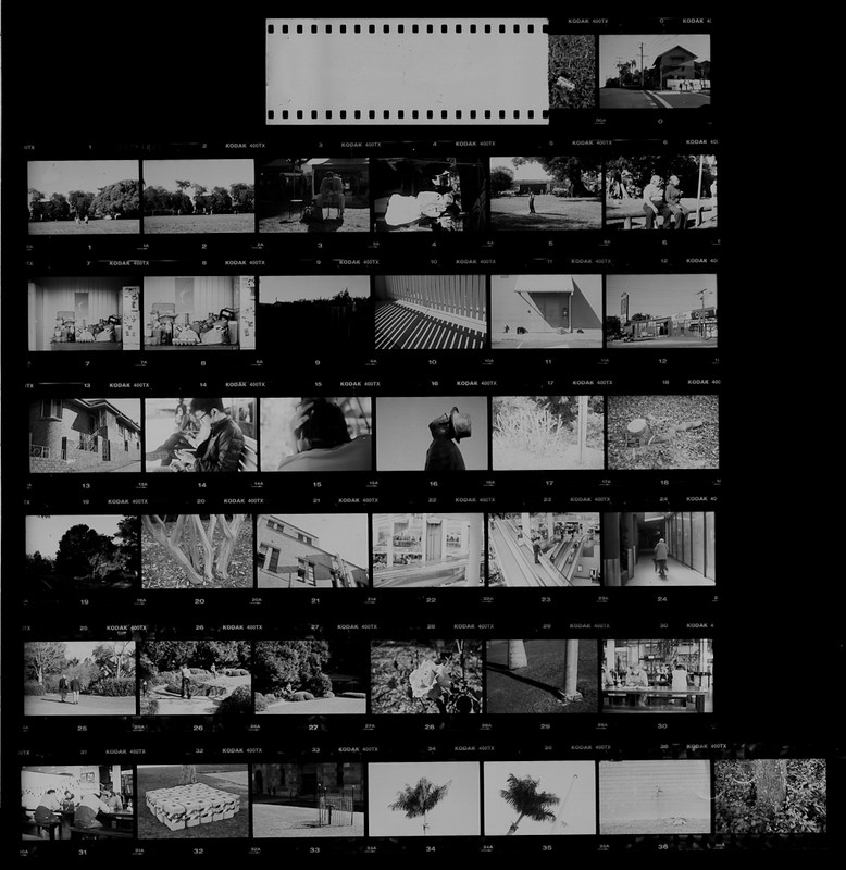 Contact sheet, Pentax K1000, Kodak 400TX