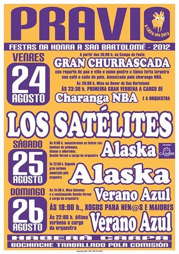 Cambre 2012 - Festas de San Bartolomé en Pravio - cartel