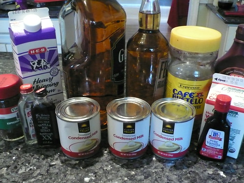 Ingredients to make Irish Cream