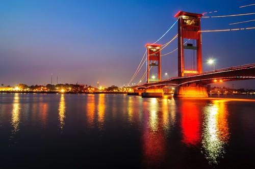 bridge indonesia nightshoot ampera palembang sumsel southsumatra sumateraselatan