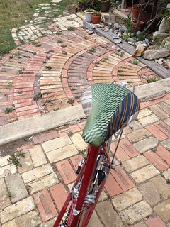 Vintage Necktie Bicycle Seat Cover