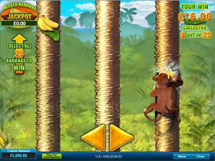 Banana Monkey Progressive Bonus Round