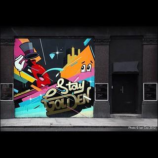 Dabs and Myla with Remi Rough in London #wallkandy #streetart #graffiti #london #dabsmyla #remirough @remirough @dabsmyla #art #painting