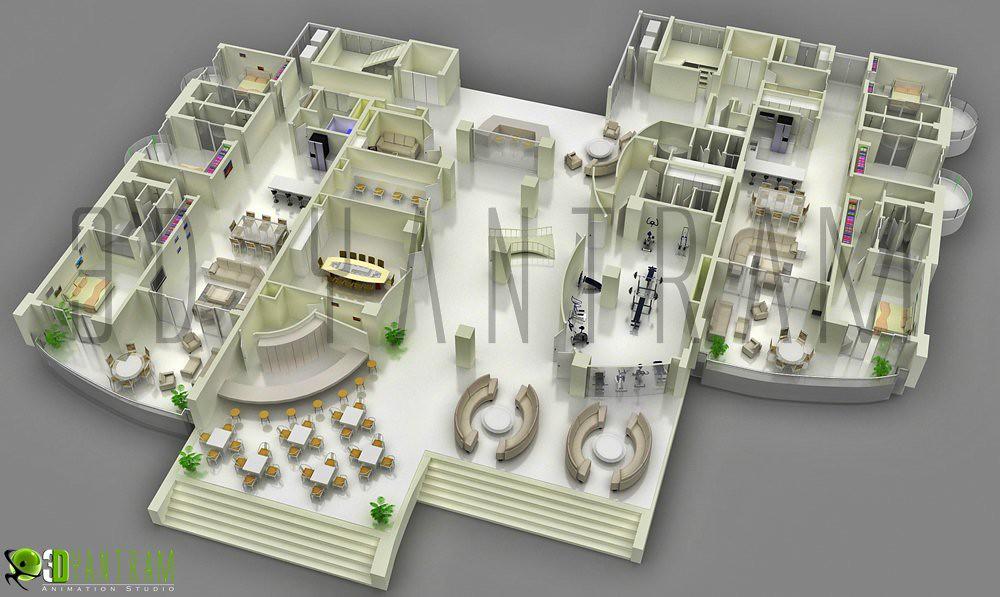 3d Corporate Office Floor Plan