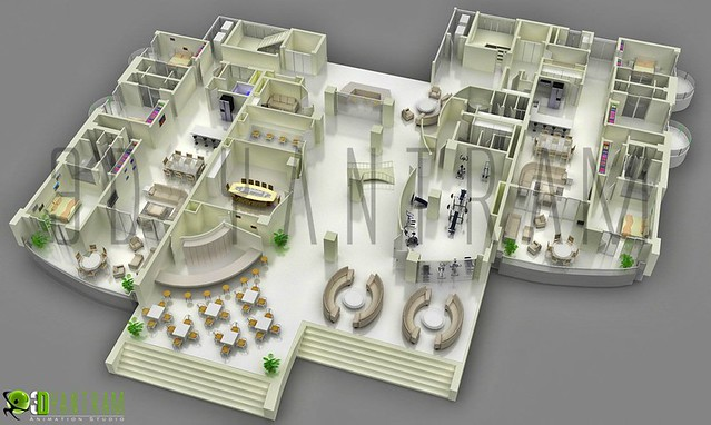 3d corporate office floor plan flickr photo sharing for Office floor plan app