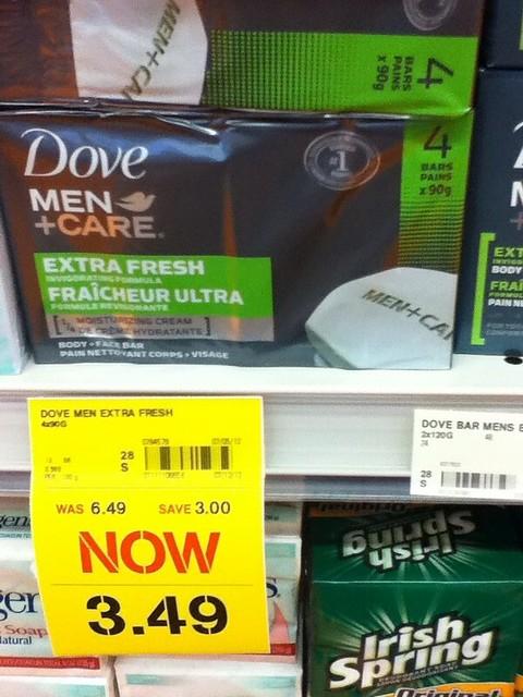 Dove MEN+CARE Face Soap 4x90g