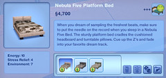Nebula Five Platform Bed